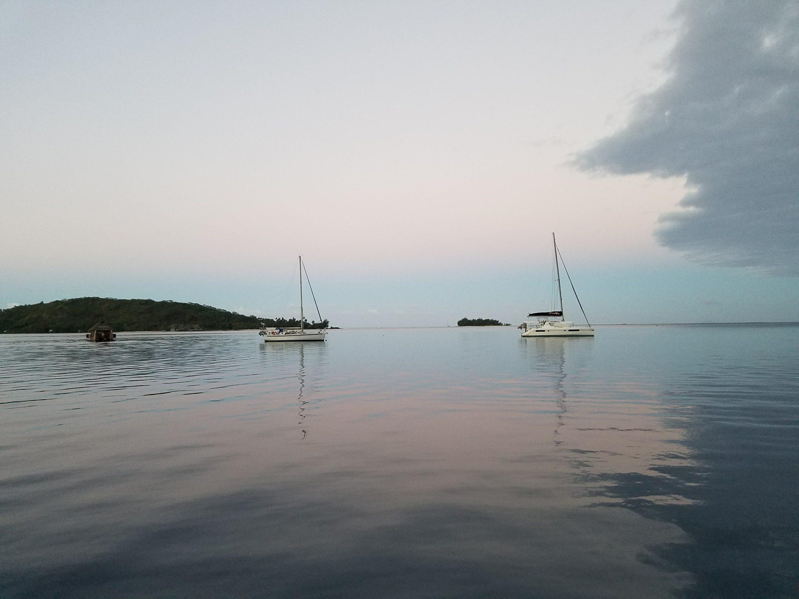 A calm and tranquil bay just off Bora Bora